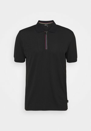 MENS ZIP  - Poloshirt - black