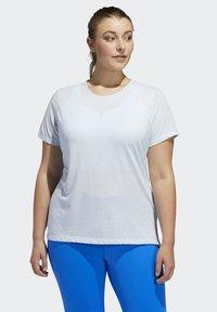 adidas Performance - GO TO T-SHIRT (PLUS SIZE) - T-shirt print - blue - 0