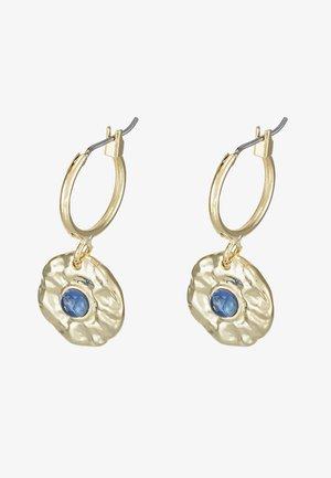 Earrings - gold-coloured/blue