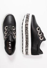KARL LAGERFELD - KOBO KUP 3 EYE TIE - Sneakers basse - black - 3