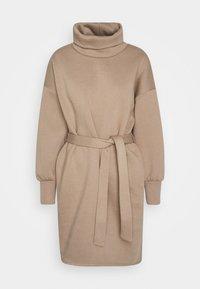 ONLY - ONLKYLIE HIGHNECK BELT DRESS - Day dress - beige - 0