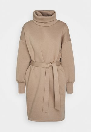 ONLKYLIE HIGHNECK BELT DRESS - Denní šaty - beige