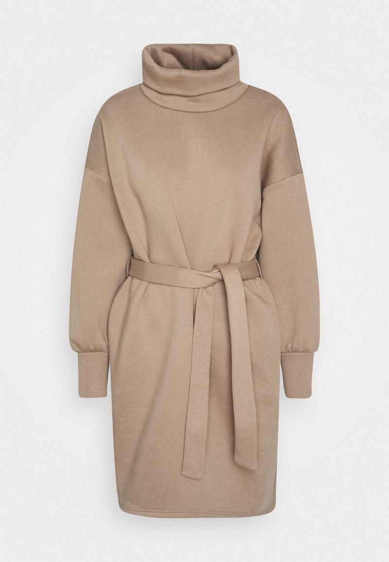 ONLY - ONLKYLIE HIGHNECK BELT DRESS - Day dress - beige