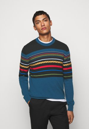 MENS PULLOVER CREW NECK - Trui - black