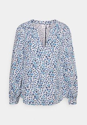ZEN NECK - Topper langermet - daisy floral blue