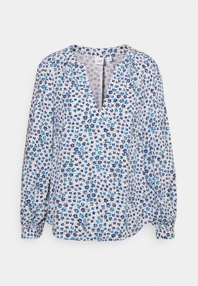 ZEN NECK - Pitkähihainen paita - daisy floral blue
