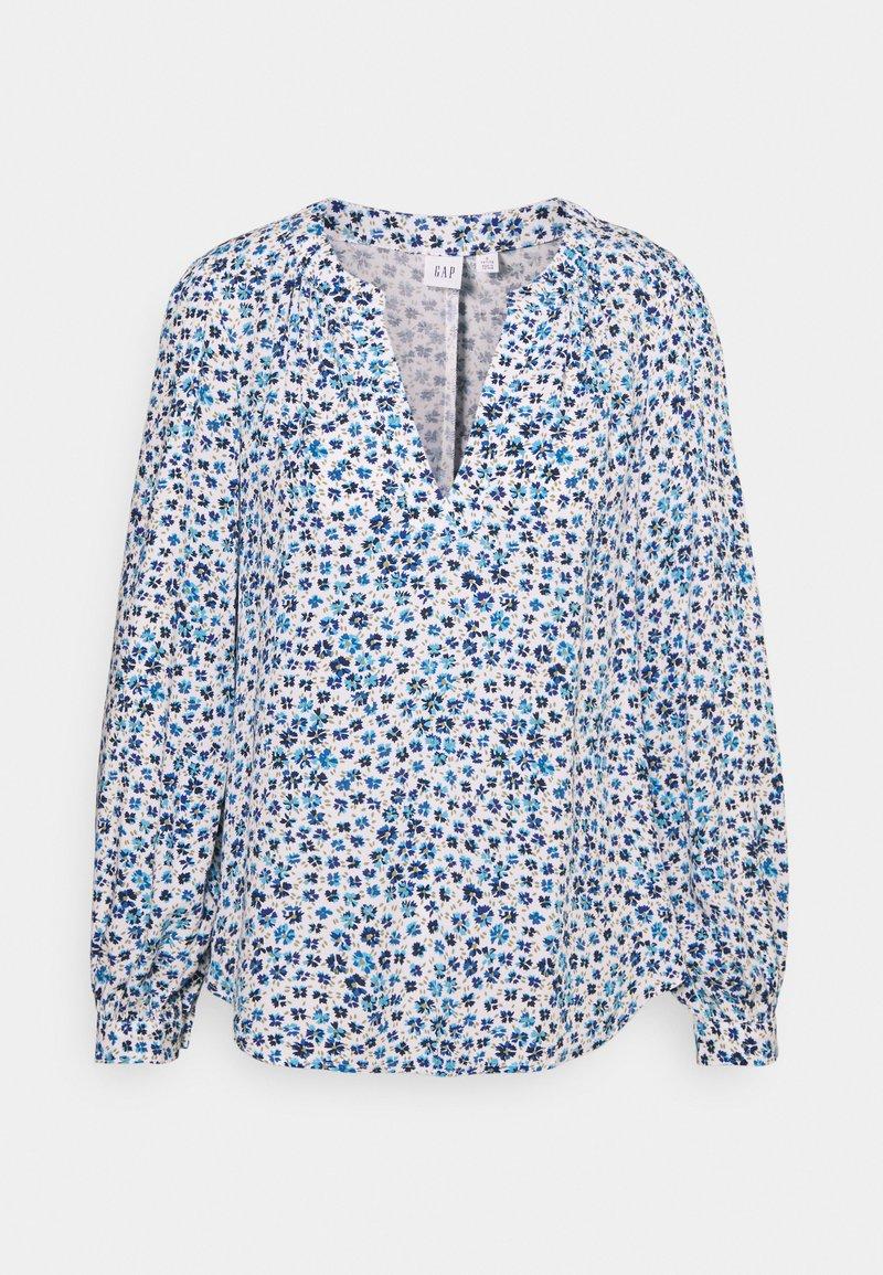 GAP Petite - ZEN NECK - Long sleeved top - daisy floral blue