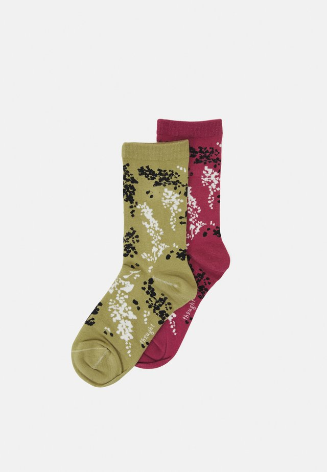 ORPHA SOCKS 2 PACK - Socks - dark rose pink/pear green