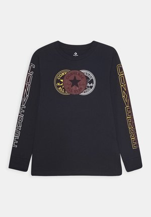 COLLEGIATE VERTICAL - Long sleeved top - obsidian