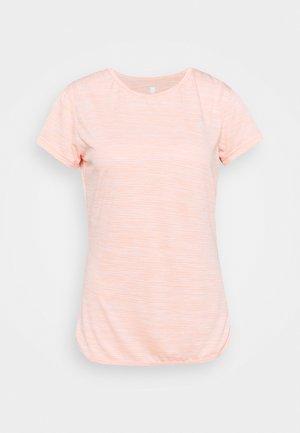 HYPERCOURT CAP SLEEVE - Camiseta estampada - peach melange
