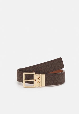 LOGO REVERSIBLE BELT - Pásek - brown/chocolate/gold-coloured