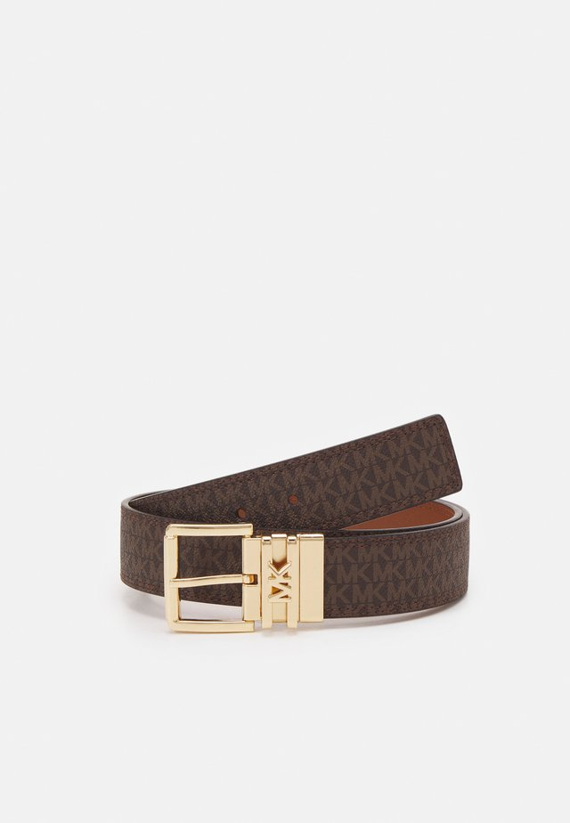 LOGO REVERSIBLE BELT - Cintura - brown/chocolate/gold-coloured