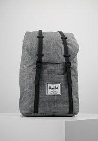 Herschel - RETREAT - Rucksack - raven crosshatch / black rubber - 0