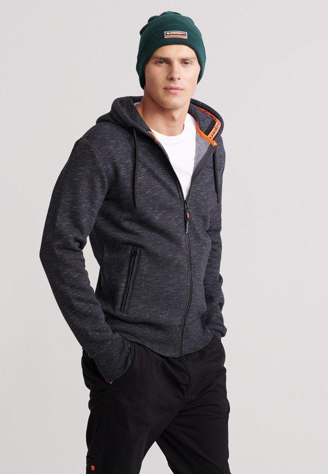 Superdry - Zip-up hoodie - black