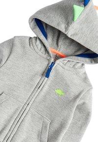 Next - GREY MARL DINO SPIKE ZIP THROUGH HOODY (3MTHS-7YRS) - Zip-up hoodie - grey - 2