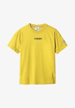 T-shirt med print - yellow moss