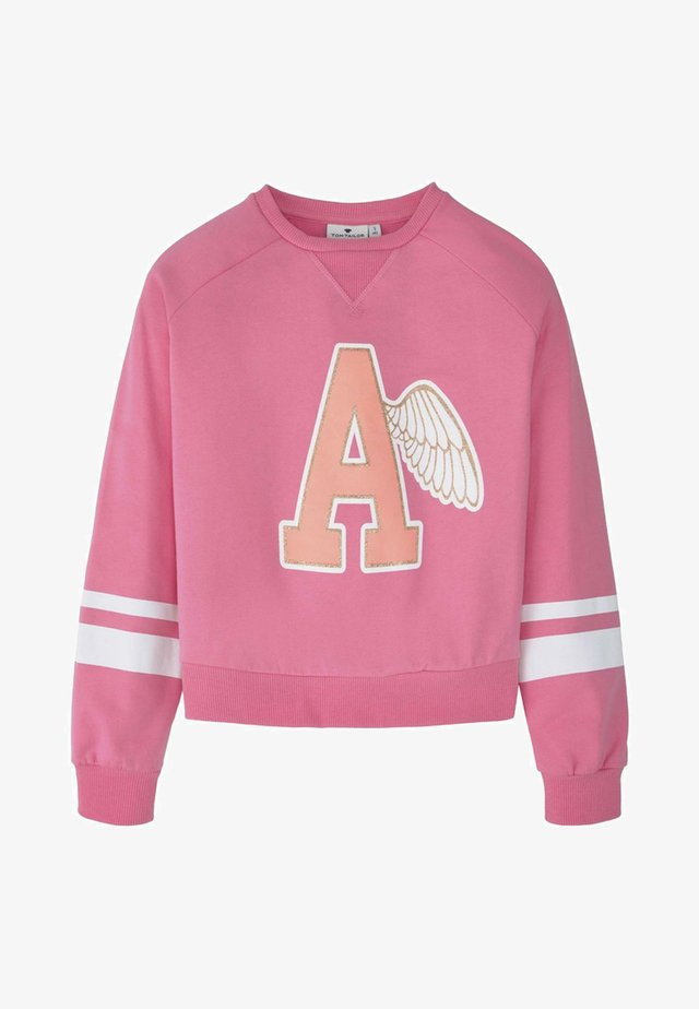 MIT PRINT UND STREIFEN - Sweatshirt - pink carnation/ose