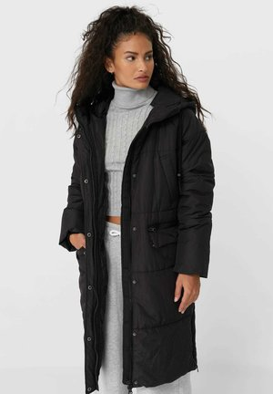 LANGER STEPPMANTEL - Winter coat - black