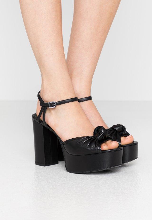 SURI PLATFORM - Sandaler med høye hæler - black