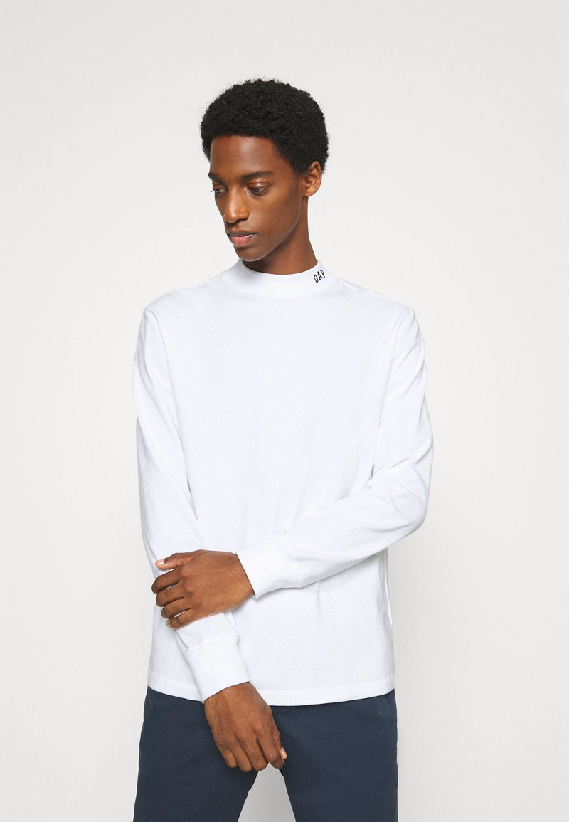 GAP - LOGO MOCK - Long sleeved top - fresh white