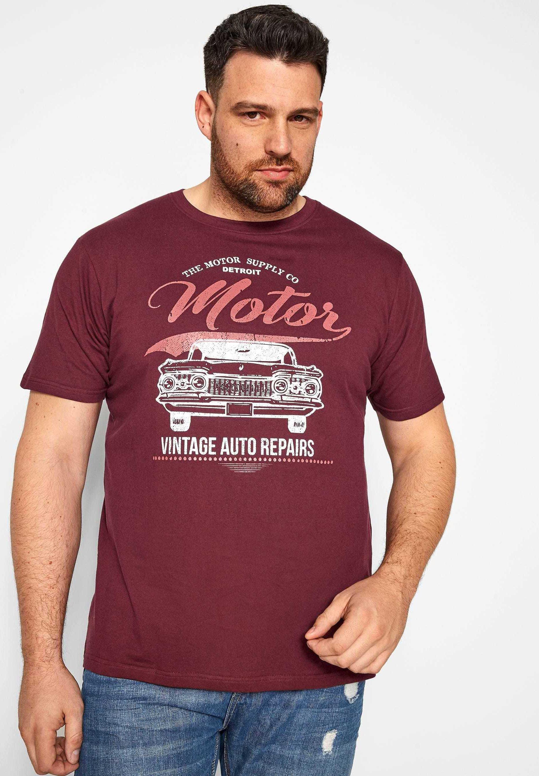 BadRhino MOTOR GRAPHIC PRINT - Print T-shirt - red 3yi9x