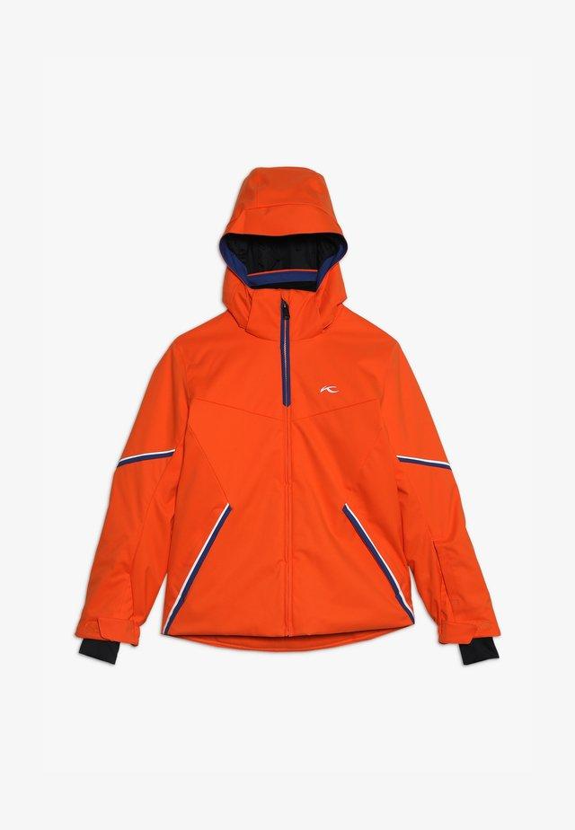 BOYS FORMULA JACKET - Chaqueta de esquí - orange/south blue