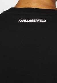 KARL LAGERFELD - SQUARE ADDRESS LOGO - Print T-shirt - black