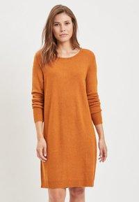 Vila - VIRIL DRESS - Jumper dress - cathay spice - 0