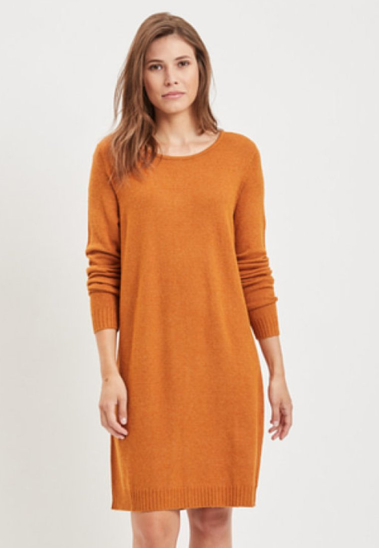 Vila - VIRIL DRESS - Jumper dress - cathay spice