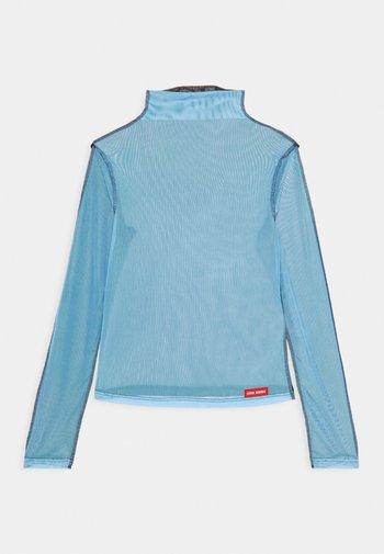 JOLIE TURTLENECK - Long sleeved top - black/light blue