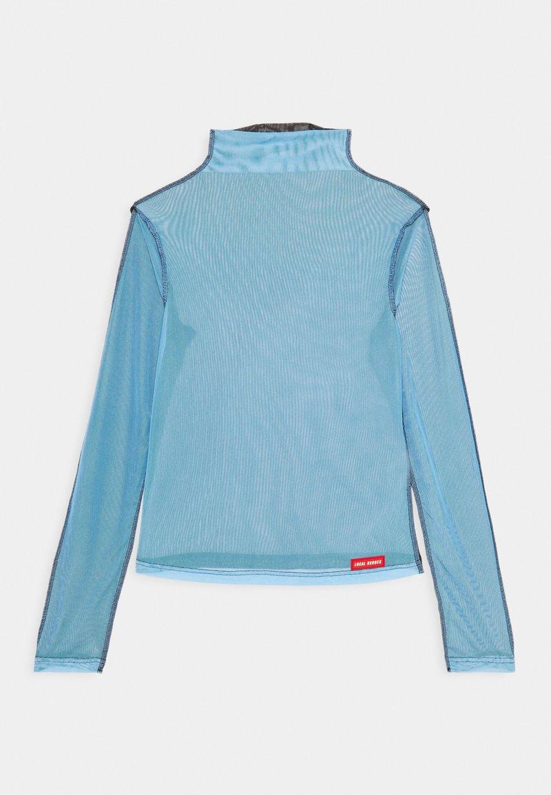 Local Heroes - JOLIE TURTLENECK - Long sleeved top - black/light blue