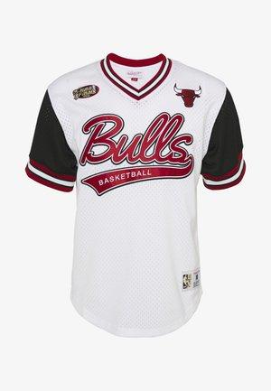 NBA CHICAGO BULLS PROSPECT V-NECK - Club wear - white/black