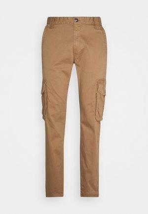 Cargo trousers - dusty caramel brown