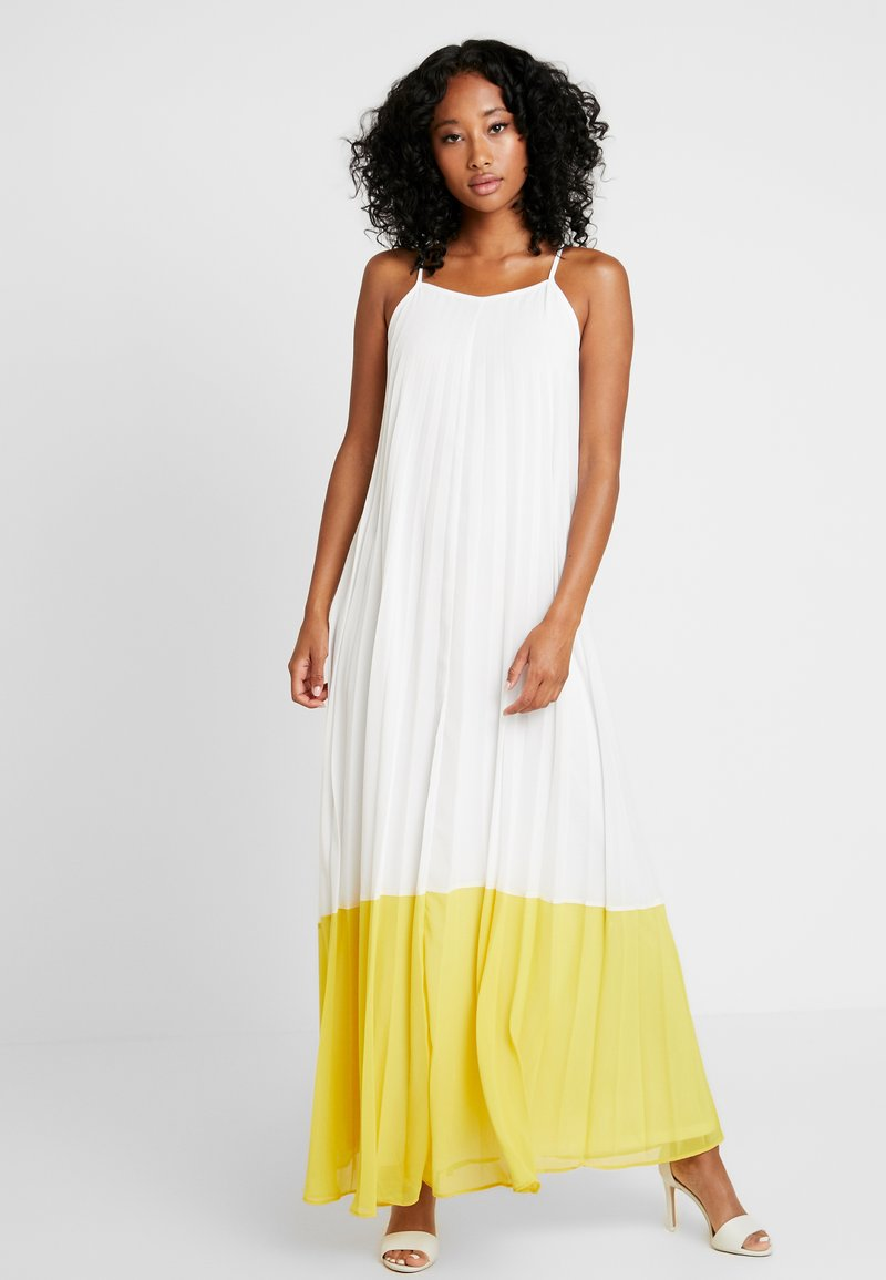 Missguided - STRAPPY PLEATED DRESS COLOURBLOCK - Maxi dress - white