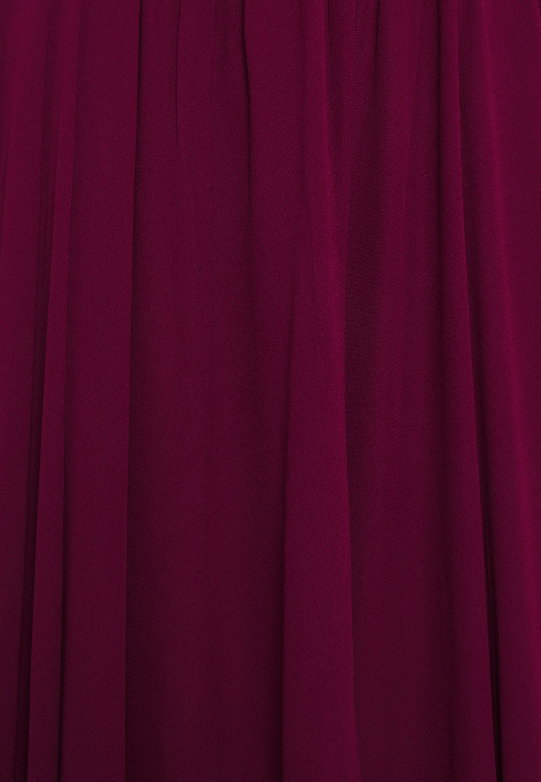 MICHAEL Michael Kors PLEATED HALTER Maxikleid dark ruby/bordeaux