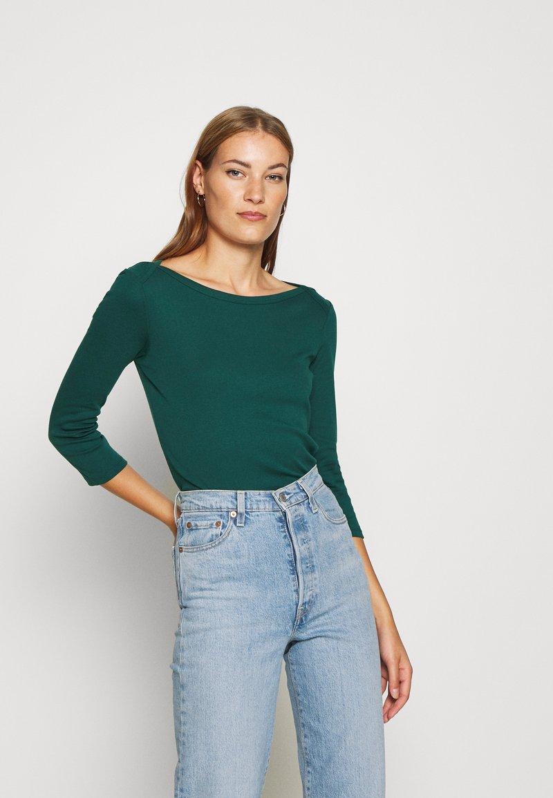 Benetton - Bluzka z długim rękawem - forrest green