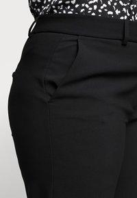Selected Femme Curve - SLFRIGA WIDE PANT - Kangashousut - black - 4