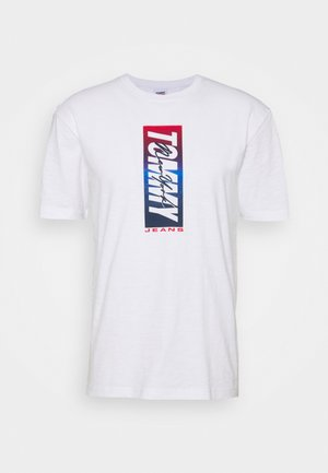 VERTICAL FRONT LOGO BOX TEE - Print T-shirt - white