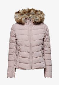 ONLY - ONLNEW ELLAN QUILTED HOOD JACKET - Light jacket - shadow grey - 0