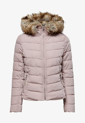 ONLNEW ELLAN QUILTED HOOD JACKET - Lehká bunda - shadow grey