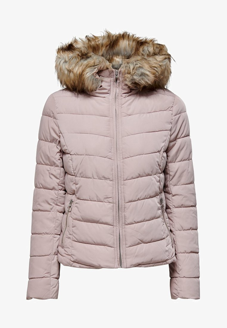 ONLY - ONLNEW ELLAN QUILTED HOOD JACKET - Light jacket - shadow grey