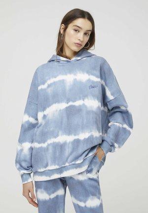 Hoodie - mottled blue