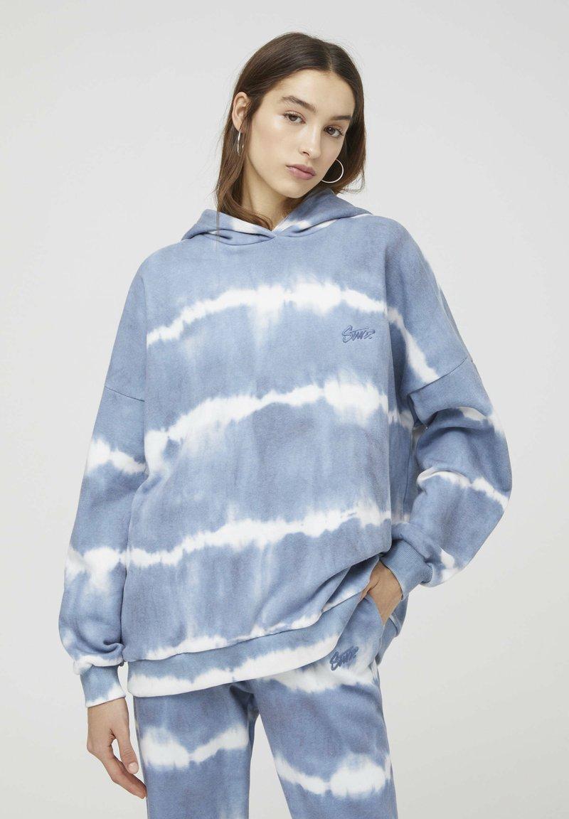 PULL&BEAR - Hoodie - mottled blue