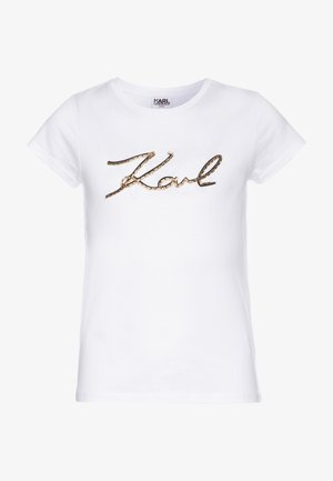 SHORT SLEEVES - T-shirt print - white