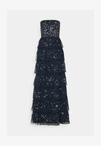 Maya Deluxe - EMBELLISHED STRAPLESS TIERED MAXI DRESS - Společenské šaty - navy - 5