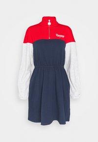 Tommy Jeans - COLORBLOCK MOCK - Day dress - twilight navy/multi - 0