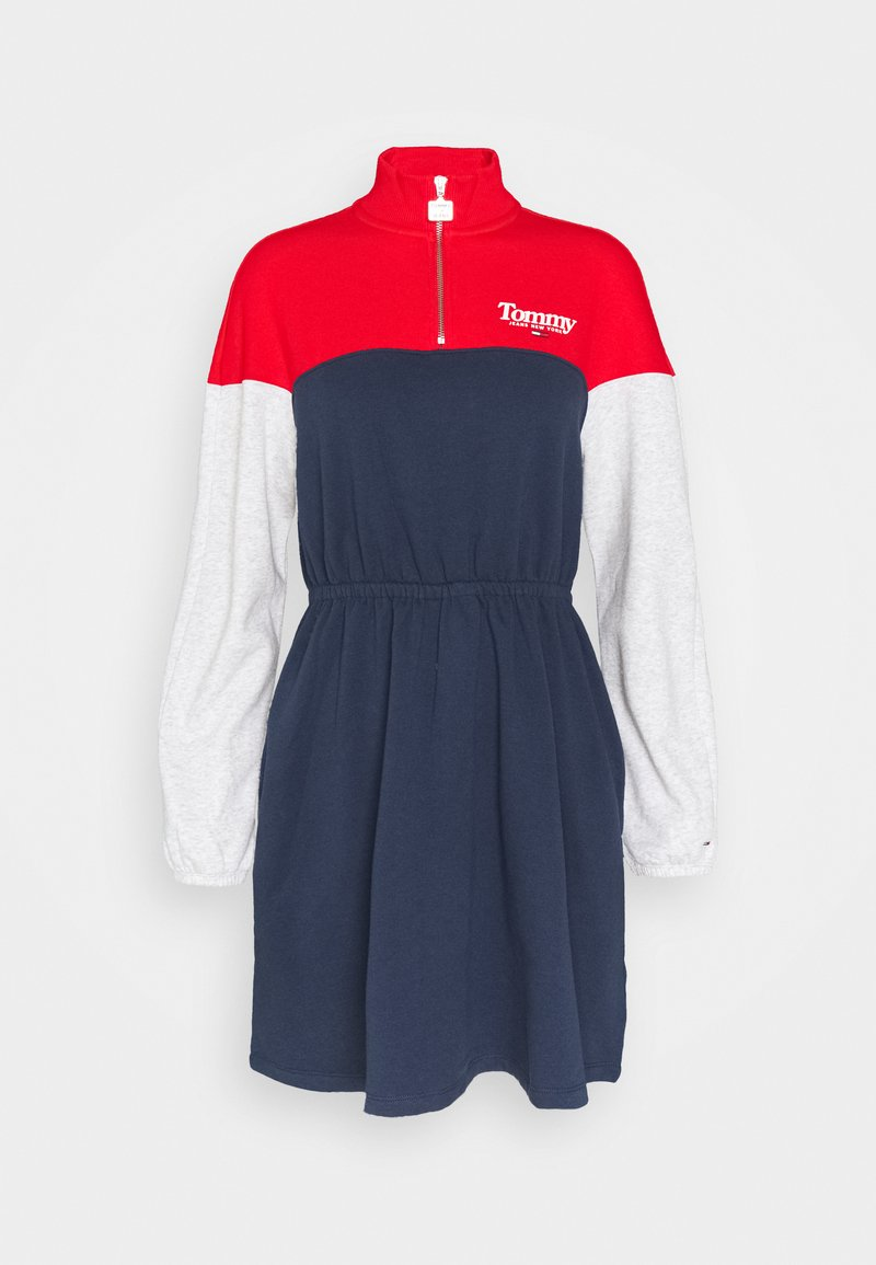 Tommy Jeans - COLORBLOCK MOCK - Day dress - twilight navy/multi