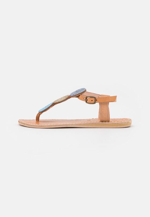 ISKO FLAT - Flip Flops - aqua