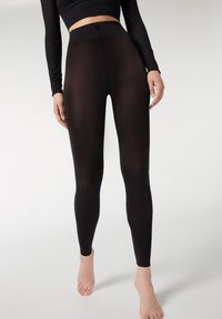 Calzedonia - BLICKDICHTE SOFT TOUCH TOTAL COMFORT LEGGINGS - Tights - black - 0