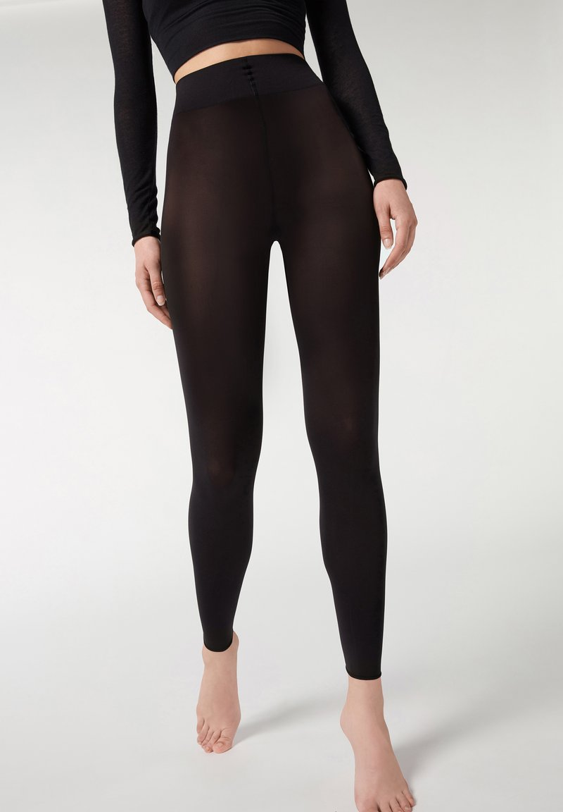 Calzedonia - BLICKDICHTE SOFT TOUCH TOTAL COMFORT LEGGINGS - Tights - black